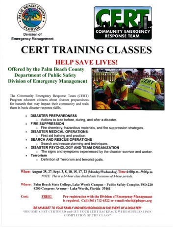 CERT Palm Beach